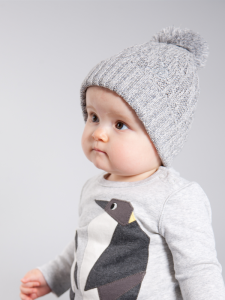 BABY AND KIDS UNISEX COTTON CHUNKY KNIT BOBBLE HAT 'RAMSAY' 3