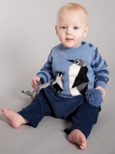 NAVY BLUE SOFT CORD BABY TROUSER 'GLEN' 3