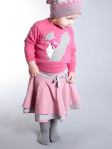 PINK CORDUROY BABY AND KIDS FRILL SKIRT 'GIA' 4
